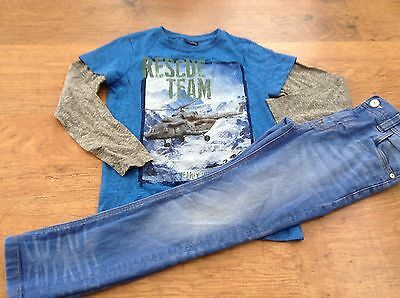 100% Next  Boys Small Bundle / Outfit 7Yrs Top Jeans