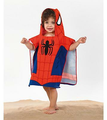 Boys Official Spiderman: Homecoming Hooded Poncho Beach Towel Age 2-6 56559