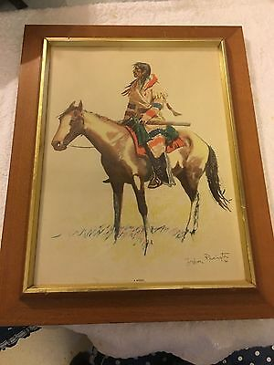 1901 Frederic Remington Print #3403 A Breed in Frame
