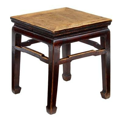 Late 19Th Century Chinese Elm Stool