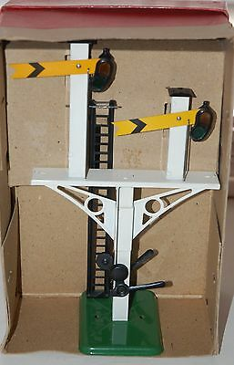 HORNBY SERIES O GAUGE No 2 JUNCTION SIGNAL BOXED