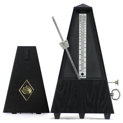 FLEOR Black Vintage Mechanical Metronome Wind Up Style for Piano Violin Guitar