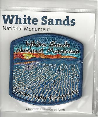 White Sands National Monuemnt New Mexico Souvenir Patch   Leave Only Footprints