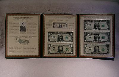 Complete Collection of 1963 U.S. One Dollar Barr Notes - Currency Commemorative