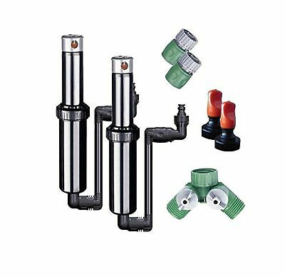 Quick-Snap In-Ground 5-Inch Pop-Up Adjustable Sprinkler 2-Pack With Quick... New