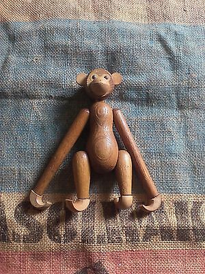 Mid-century Articulated Wood Monkey