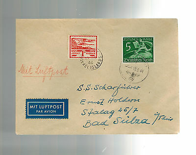 1944 Occupied Jersey airmail Feldpost Cover # P1 E To SS Man in Stalag 25/7