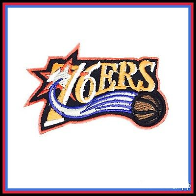 """Philadelphia 76ers Vintage Embroidered Iron On Patch 3"""" x 2"""""""