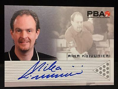 MIKA KOIVUNIEMI 2008 Rittenhouse PBA Bowling AUTOGRAPH On Card Pack Pulled AUTO