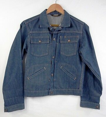 Vintage Sears Roebuck Selvedge Denim Single Stitch Jacket Made In Usa