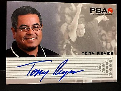 TONY REYES  2008 Rittenhouse PBA Bowling AUTOGRAPH On Card Pack Pulled AUTO