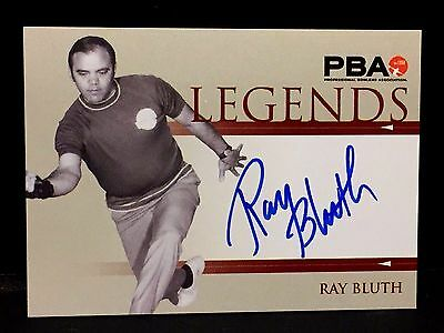 RAY BLUTH 2008 Rittenhouse PBA LEGENDS Bowling AUTOGRAPH On Card  AUTO