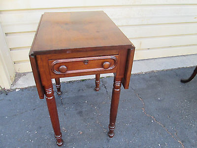 56373   Antique Hepplewhite Drop Leaf Table Stand
