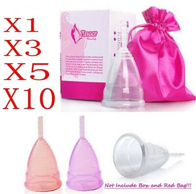Reusable Silicone Menstrual Cup Period Soft Medical Diva Cup Large Middle Size