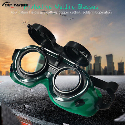 Welding Goggles With Flip Up Darken Cutting Grinding Safety Protect Glasses New