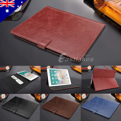Classic Leather Wallet Smart Cover Case for Apple iPad 6 5 4 3 9.7 mini Air Pro