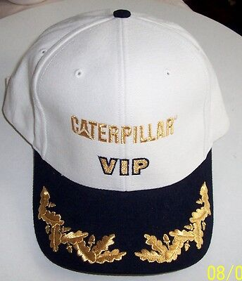 CAT Caterpillar VIP Hat Adjustable White