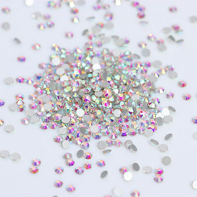 1440pcs Flat Bottom Rhinestone Colorful 3D Nail Decoration SS3 Manicure DIY Tips