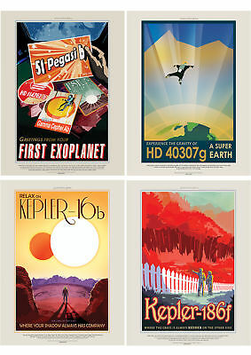 NASA POSTER SPACE EXOPLANET TRAVEL ADVERT PACK x 7  POSTERS ART PRINTS HP3845