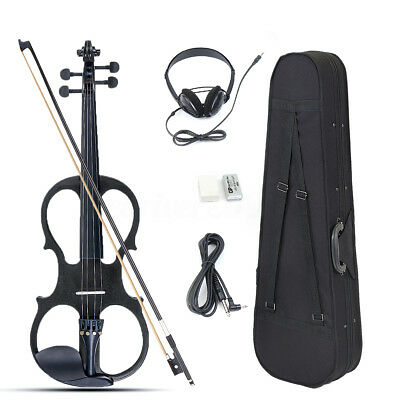 4/4 Full Size Electric Violin with Connecting Line Earphone & Case 3 Color