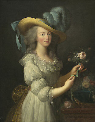 Painting Le Brun Queen France Marie-Antoinette Xxl Poster Wall Art Print Llf0329