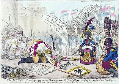 Satire Gillray 1805 The Surrender Of Ulm Giant Wall Poster Art Print Llf0717