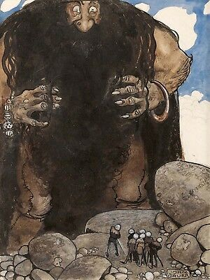 Kids Painting John Bauer Giant Large Wall Art Print Poster Picture Lf1986