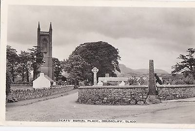 zx irish postcard ireland sligo poetry poet yeats burial place drumcliff