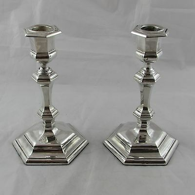 Antique Pair Of Silver Candlesticks London 1903 Lambert & Co 7 Inches