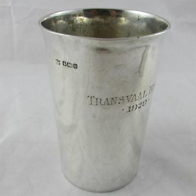 Antique Solid Silver Beaker Shooting Trophy Transvaal Bisley 1920 Mappin Webb