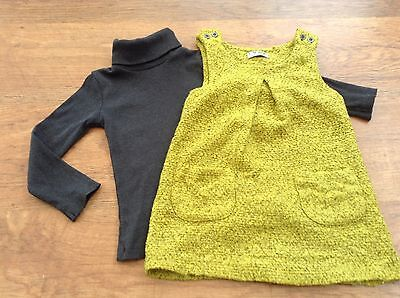 100%  Next Girls Small Bundle / Outfit 18-24Mths Polo Top Pinafore