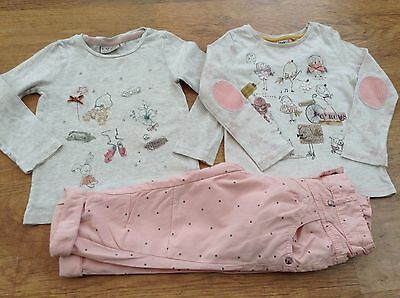 100%  Next Girls Small Bundle / Outfit 12-18Mths Tops Trousers