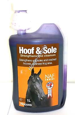 Naf Hoof & Sole Disinfects And Strengthens Horses Hooves
