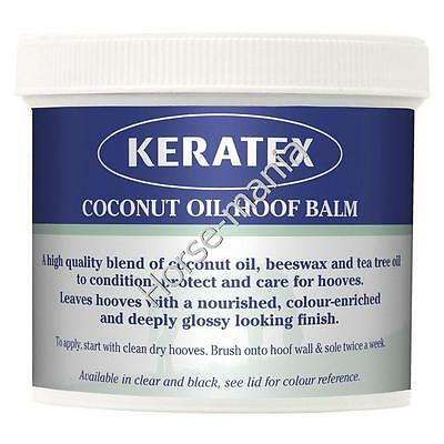 KERATEX COCONUT OIL HOOF BALM 400g NOURISHES HOOVES CLEAR OR BLACK