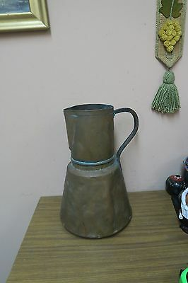 Vintage / Antique Arabic Handmade Hammered Copper Water Pitcher Ewer Jug 15""