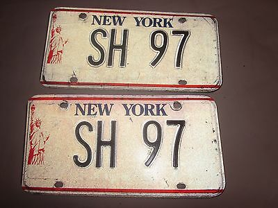 1986-2000 vintage New York License Plates SH 97