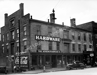 "1936 Athens Hardware, Athens Georgia Vintage Old Photo 8.5"" x 11"" Reprint"