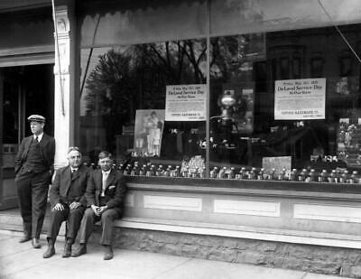 "1916 Men at Hardware Store, Oxford, Ohio Vintage Old Photo 8.5"" x 11"" Reprint"