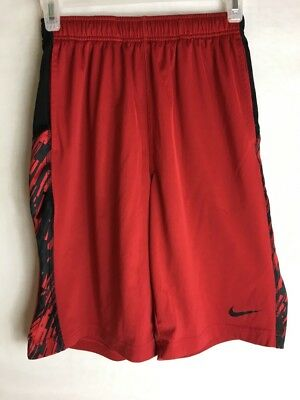 Nike Dri-Fit, Boy's Red & White Athletic  Shorts Youth L
