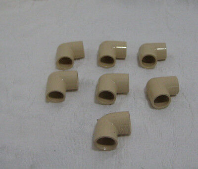 """Lot of 7 TPI 1/2"""" CPVC-4120 Elbows 90 Degree Push To Connect ASTM D-2846"""