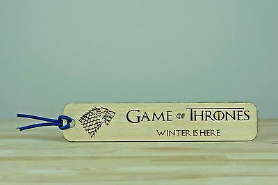 Personalised Bookmarks Wooden Engraved Gift Birthday Teacher Christmas Present