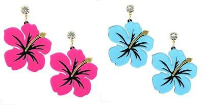 3x Hibiscus flowers//laser cut//etched acrylic charms//cabochons//DIY jewellery fun