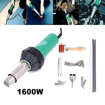 Hot Air Torch Plastic Welding Gun Welder Pistol 1600W 40°C - 600°C Speed Nozzle
