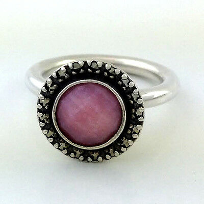 5a31efc29 Authentic Pandora Sterling Silver Sugar & Spice Pink Opal SZ 7 New 190617POP