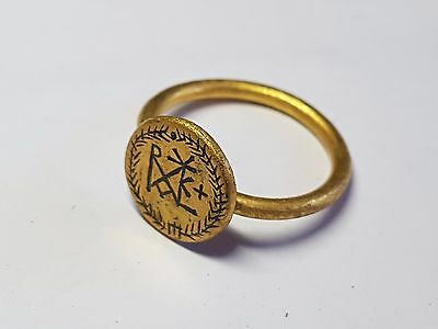 Byzantine Gold Christian Ring 8th,10th  Century AD