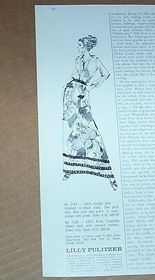1972 print ad - Lilly Pulitzer fashion clothing Vintage art artwork Advertising