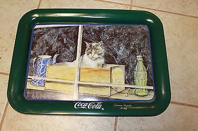 Coke Tray Cat In The Window by Jeannie Mack 1994 Signed