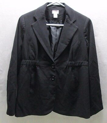 Motherhood Maternity M Medium Black Suit Coat Jacket Work Wear Dress