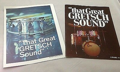 Vintage 1971 Gretsch 7 page catalog and Gretsch 2 page Insert