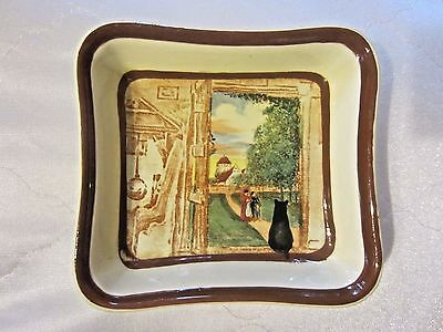 Royal Doulton Open Door Cat in Doorway Sweet Meat Dish D4538 Series England NR